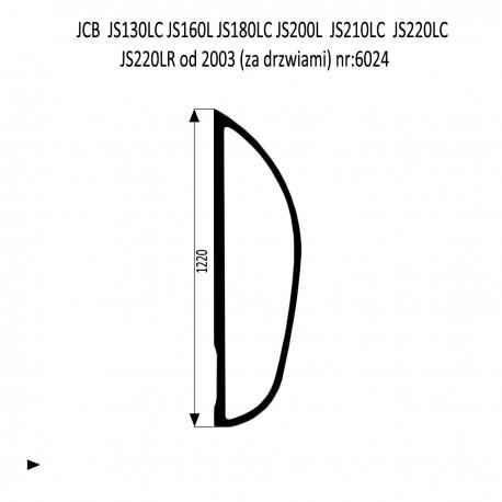JCB JS130LC  JS180LC  JS210LC  JS220LC  JS220LR  JS220N JS220S szyba za drzwiami