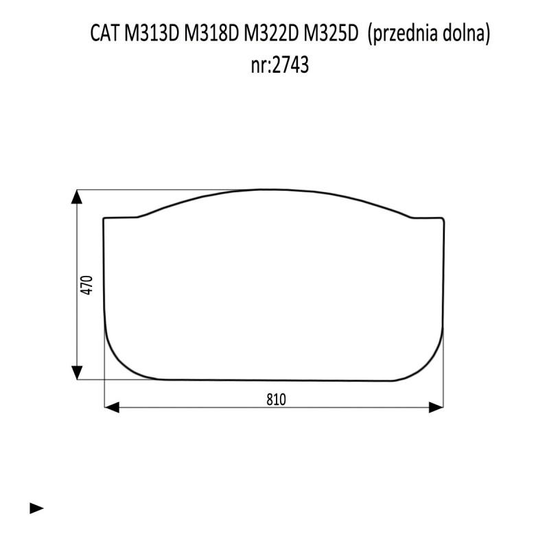 CAT M313D M318D M322D M325D SZYBA PRZEDNIA DOLNA 70/30