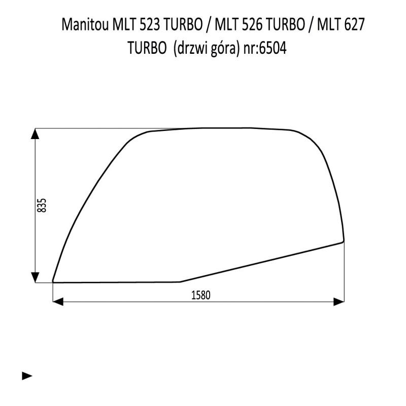 Manitou MLT 523 TURBO  MLT 526 TURBO  MLT 627 TURBO  szyba boczna