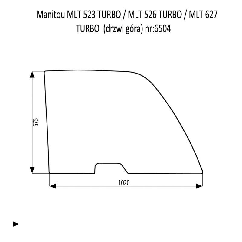 Manitou MLT 523 TURBO  MLT 526 TURBO  MLT 627 TURBO  szyba drzwi górna