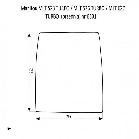 Manitou MLT 523 TURBO  MLT 526 TURBO  MLT 627 TURBO  szyba przednia