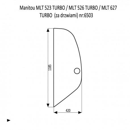 Manitou MLT 523 TURBO  MLT 526 TURBO  MLT 627 TURBO  szyba za drzwiami