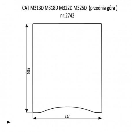 CAT M313D M318D M322D M325D SZYBA PRZEDNIA GÓRNA 70/30