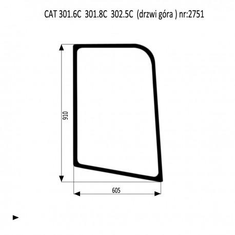 CAT 301.6C 301.8C  302.5C szyba drzwi góra