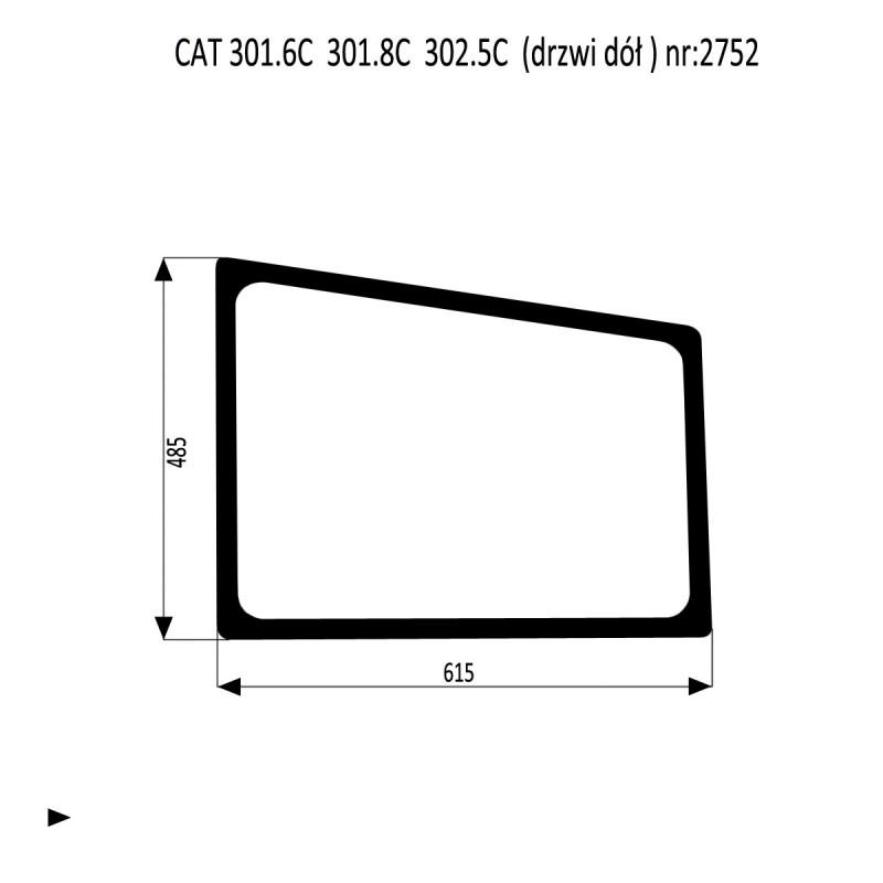 CAT 301.6C 301.8C  302.5C szyba drzwi dól