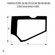 KOMATSU PC PW 130 160 210  240 290 340 LC  NLC szyba drzwi dolna