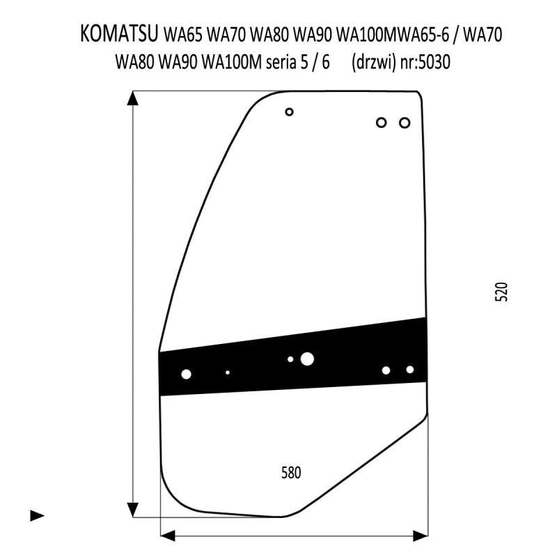 KOMATSU WA65-5  WA70-5  WA80-5  WA90-5  WA100M-5  WA65-6  WA70-6  WA80-6 / WA90-6  WA100M-6 Drzwi lewe
