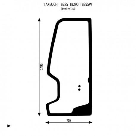 Takeuchi TB285 TB290 TB295W Drzwi lewe