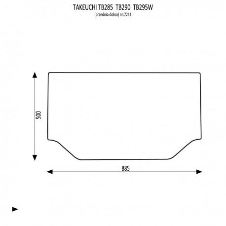 Takeuchi TB285 TB290 TB295W / TB230 TB240 / TB260 Przednia dolna