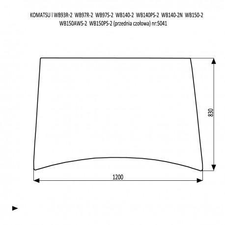 KOMATSU WB93RS-2 WB97R-2 WB97S-2 WB140-2 WB140PS-2 WB140-2N WB150-2 WB150AWS-2 WB150PS-2  Szyba przednia czołowa