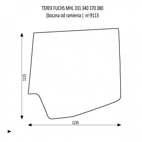 TEREX FUCHS MHL 331 340 370 380 szyba boczna od ramienia