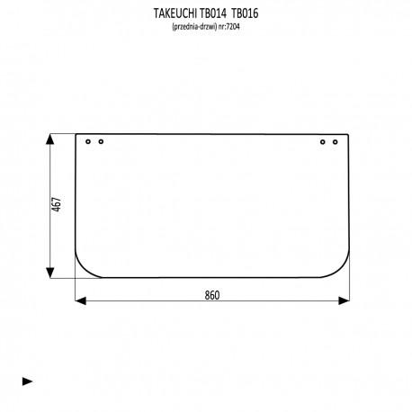 Takeuchi TB016  szyba przednia dolna