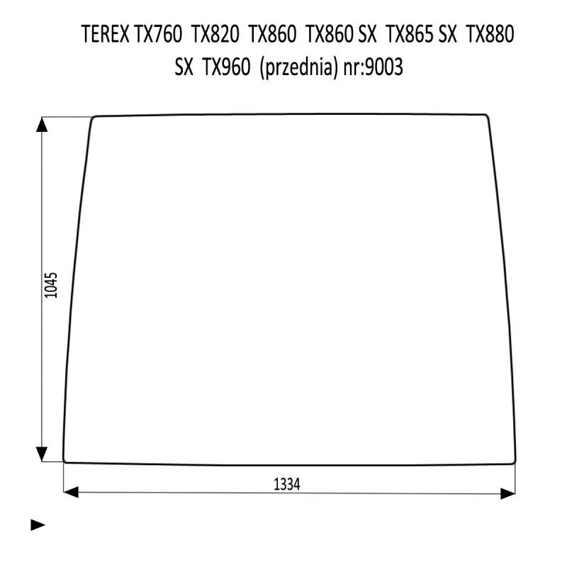 TEREX TX760 TX820 TX860SX TX865SX TX880SX TX960 SZYBA PRZEDNIA
