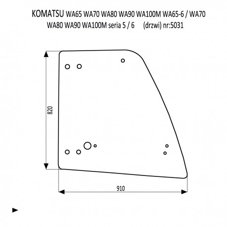KOMATSU WA 65-5 70-50 80-5 90-5 100-5 65-6 70-6 80-6 90-6 100-6 drzwi prawe