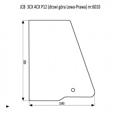 JCB 3CX 4CX P12 szyba drzwi lewe prawe