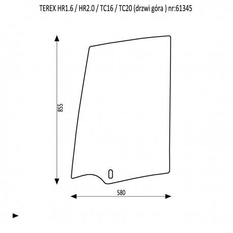 TEREX HR 1.6 2.0 TC 16 TC 20 Szyba drzwi góra