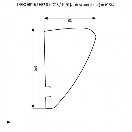 TEREX HR 1.6 2.0 TC 16 TC 20 Szyba boczna dolna
