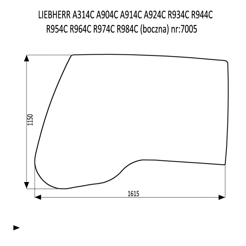 LIEBHERR  A314C  A904C  A914C A924C  R934C R944C  R954C R964C  R974C  R984C boczna