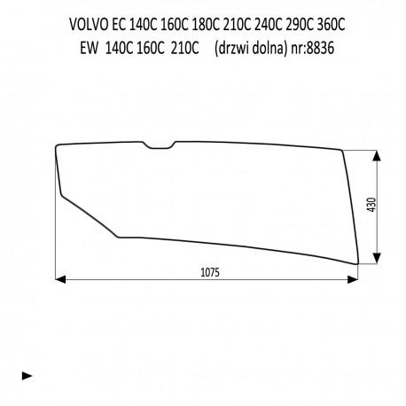 VOLVO EC160C EC210C EC240C EC290C EC360C EC480C EC700C EW140C EW160C EW180C EW210C EW230C drzwi dolna