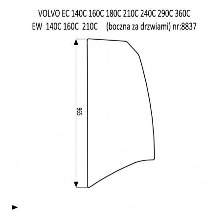 VOLVO EC160C EC210C EC240C EC290C EC360C EC480C EC700C EW140C EW160C EW180C EW210C EW230C boczna za drzwiami