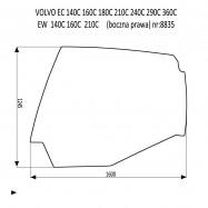 VOLVO EC160C EC210C EC240C EC290C EC360C EC480C EC700C EW140C EW160C EW180C EW210C EW230C boczna od ramienia