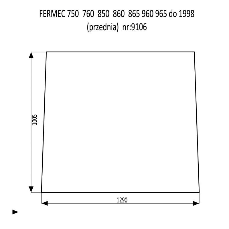 FERMEC 750  760  850  860  865  960  965 szyba przednia
