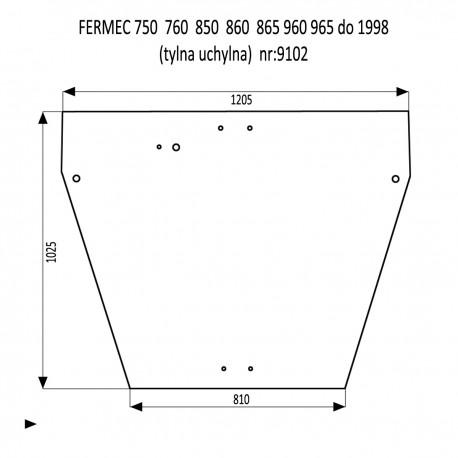 FERMEC 750  760  850  860  865  960  965 szyba tylna uchylna