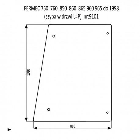 FERMEC 750  760  850  860  865  960  965 szyba w drzwi