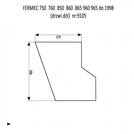 FERMEC 750  760  850  860  865  960  965 szyba w drzwi dół