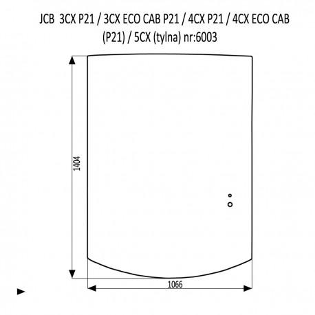 JCB 3CX 4CX P21 szyba tylna uchylna