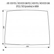 JCB 3CX 4CX P21 szyba przednia