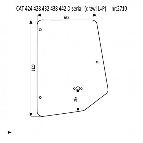CAT 424 428 432 438 442 D-seria szyba w drzwi