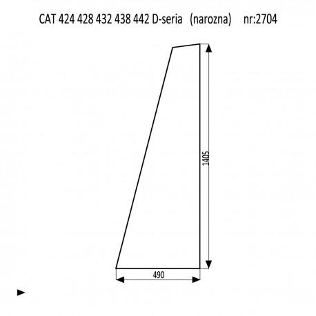 CAT 424 428 432 438 442 D-seria szyba narożna