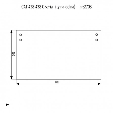 CAT 428C - 438C szyba tylna dolna