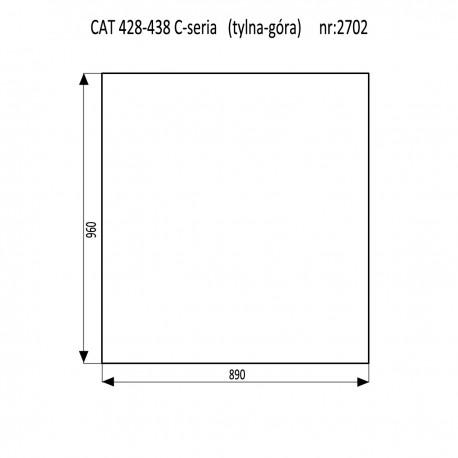 CAT 428C - 438C szyba tylna