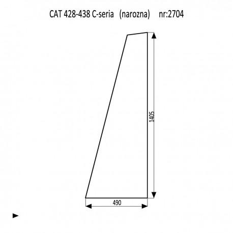 CAT 428C - 438C szyba narozna