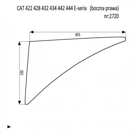 CAT 422 428 432 434 442 444 E-seria  szyba boczna prawa