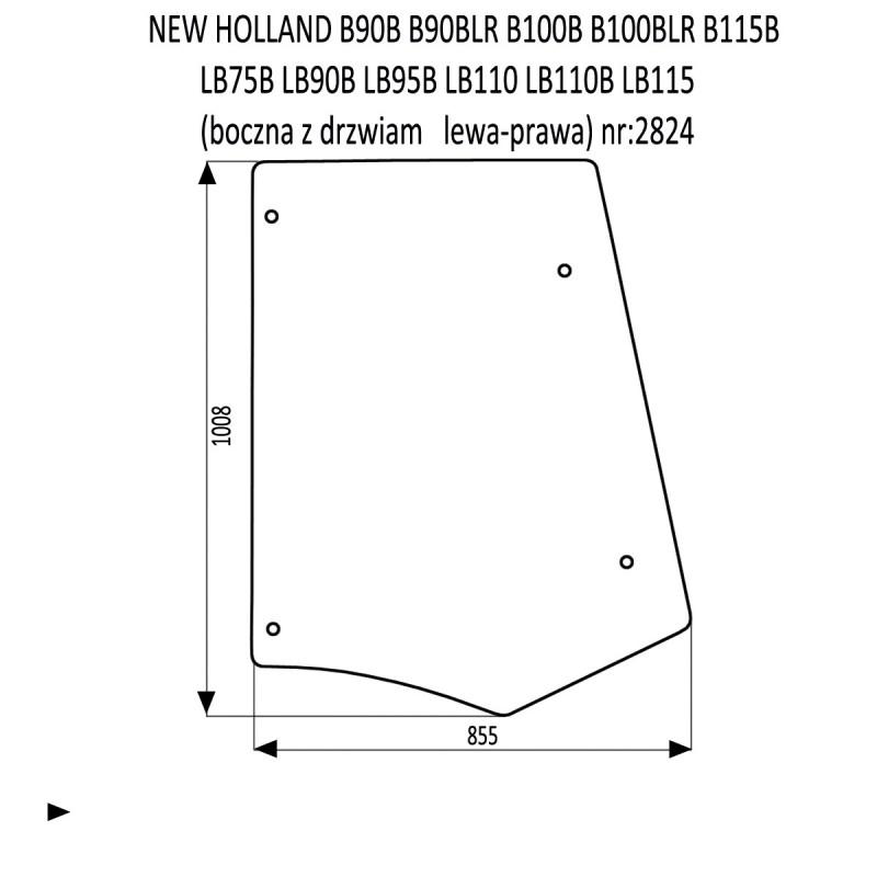 NEW HOLLAND B90B B90BLR B100B B100BLR B115B LB75B LB90B LB95B LB110 LB110B LB115 boczna