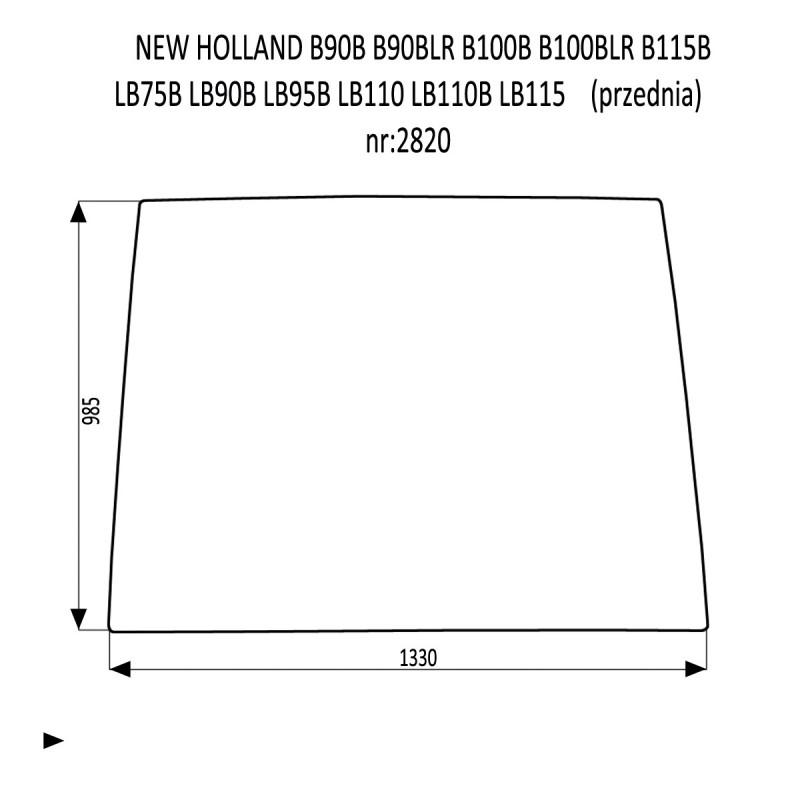 NEW HOLLAND B90B B90BLR B100B B100BLR B115B LB75B LB90B LB95B LB110 LB110B LB115 przednia