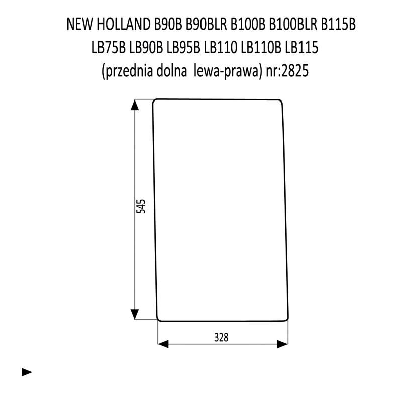 NEW HOLLAND B90B B90BLR B100B B100BLR B115B LB75B LB90B LB95B LB110 LB110B LB115 przednia dolna