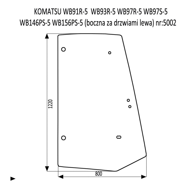 KOMATSU WB91R-5  WB93R-5  WB97R-5  WB97S-5  WB146PS-5  WB156PS-5 boczna lewa