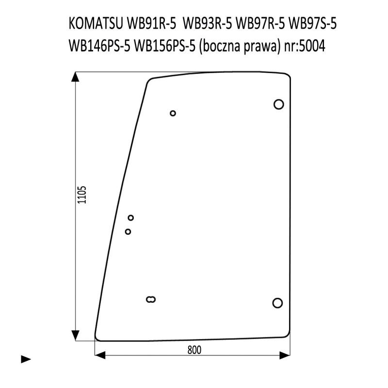KOMATSU WB91R-5  WB93R-5  WB97R-5  WB97S-5  WB146PS-5  WB156PS-5 boczna prawa
