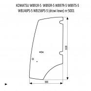 KOMATSU WB91R-5  WB93R-5  WB97R-5  WB97S-5  WB146PS-5  WB156PS-5  szyba drzwi lewe