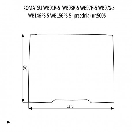 KOMATSU WB91R-5  WB93R-5  WB97R-5  WB97S-5  WB146PS-5  WB156PS-5 przednia