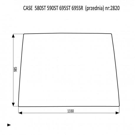 CASE 580ST 590ST 695ST 695SR szyba przednia