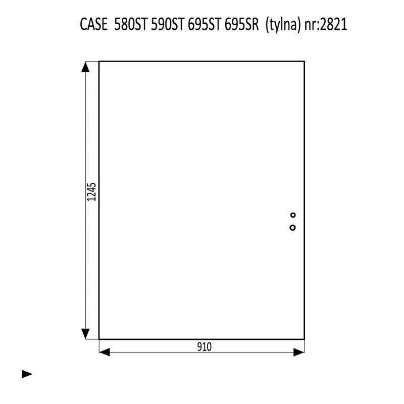 CASE 580ST 590ST 695ST 695SR szyba tylna