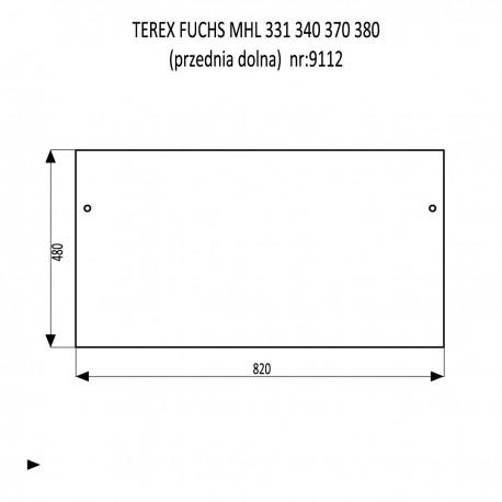 TEREX FUCHS MHL 331 340 370 380 szyba przednia dolna
