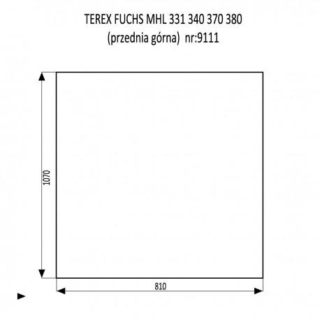 TEREX FUCHS MHL 331 340 370 380 szyba przednia górna