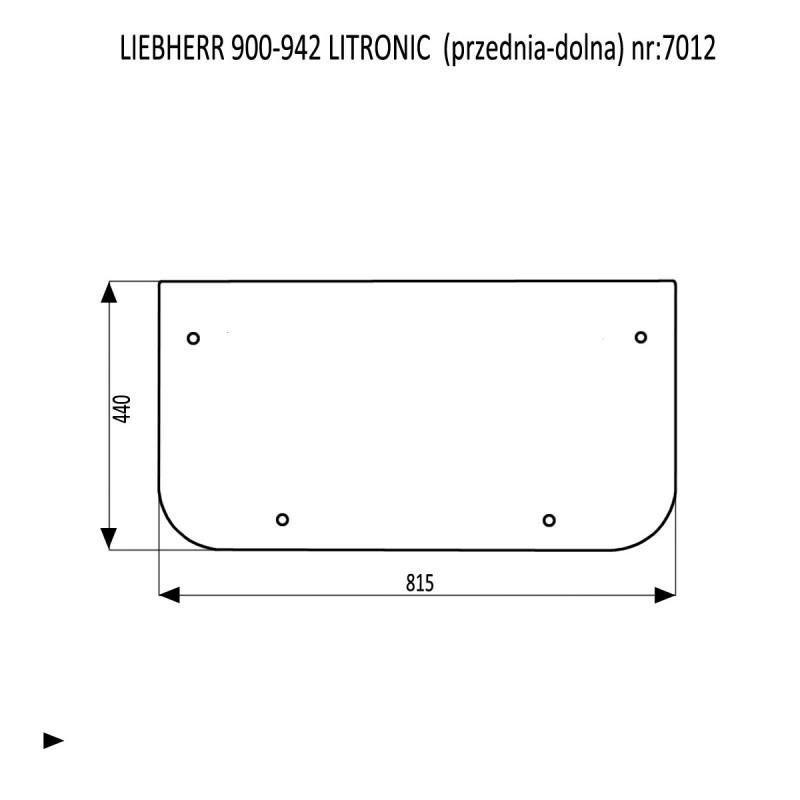 LIEBHERR 900-942 LITRONIC szyba przednia dolna