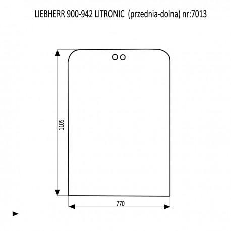 LIEBHERR 900-942 LITRONIC szyba przednia górna